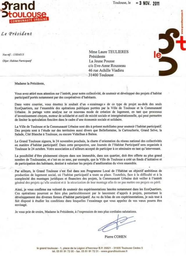 Réponse de mr Cohen - Grand Toulouse